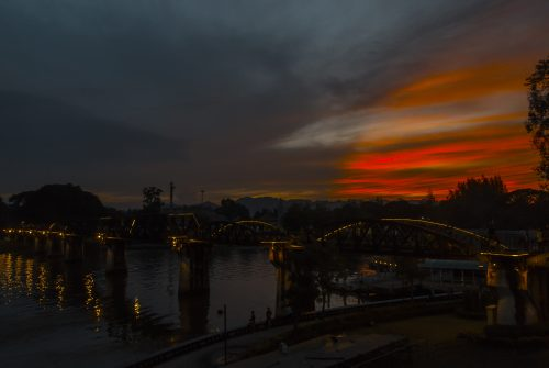 Sunset over River Kwai by Jeremy Robinson