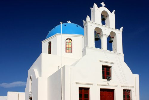 'Church in Fira' by Coral Symons