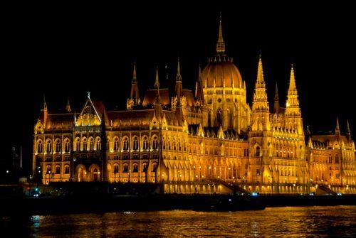 'Budapest Parliament Bld' by Cynthia Watkins