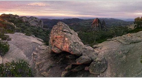 'Sunset At Mt Buffalo' by Norm Stimson
