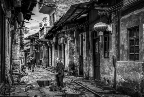 'Dazu China' by Graeme Harvey.  Winning Mono June
