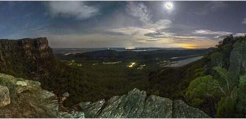 'Grampians By Moonlight' by Norm Stimson